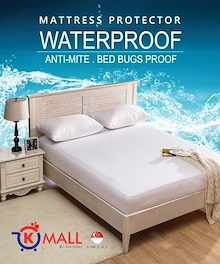 Waterproof Bedsheet / Waterproof Mattress Protector / Single Queen Size Bed Sheet Protective Cover