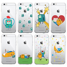 ADVENTURE TIME CLEAR CASE for iPhone X 7 6S 6 Plus 5 5S SE Mobile Smart Phone