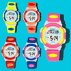 【TEEMI】BiColor Kids Children Boy Girl Waterproof Sports LED Digital Watch Rainbow Back Light