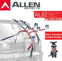 [ALLEN SPORTS] [Refurbished] AL02 Aluminium Compact Two Bike SMALLEST Trunk Carrier Bicycle Rack.