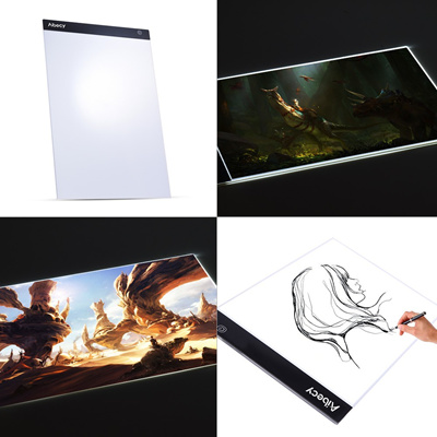 Portable A3 LED Light Box Tracing Copy Board with Memory Function Stepless  Brightness Control