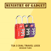 MCGEAR TL801 TSA 3 Dial Travel Lock