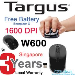 Targus Wireless Bluetooth Mouse | 1600 DPI Optical Sensor | 2.4 GHZ | Bluetooth 3.0
