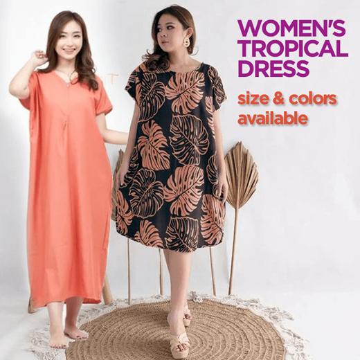 [S$7.00](▼64%)[BATIK]Long Dress High Quality Balinese Dresses - Women Fashion Collections - Cheapest