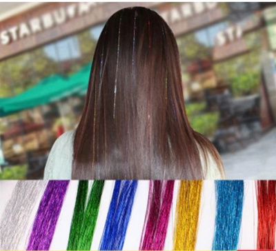 6424 shiny golden hair color hair accessories colorful hair extension  colorful incognito Korea wig g