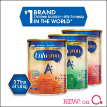 [Enfagrow A+] [3 TINS PROMO] 360 DHA PLUS Stage 3/4/5 |1.8kg| 3 tins bundle