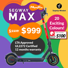 Segway-Ninebot MAX Escooter ★ PRE-ORDER ★ ✅UL2272 Electric Scooter ✅LTA Approved  ✅Official Distro