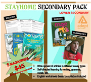 Lower Secondary 1 / 2 English Science Assessment Pack. Grammar Vocabulary Writing Comprehension