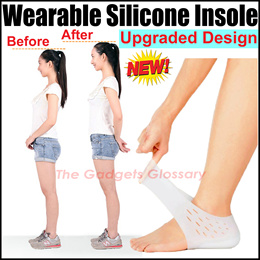 ★Invisible Height Increase Shoes Insole★Silicone Gel Insert Pad★Heels Care★SG Seller FREE Shipping