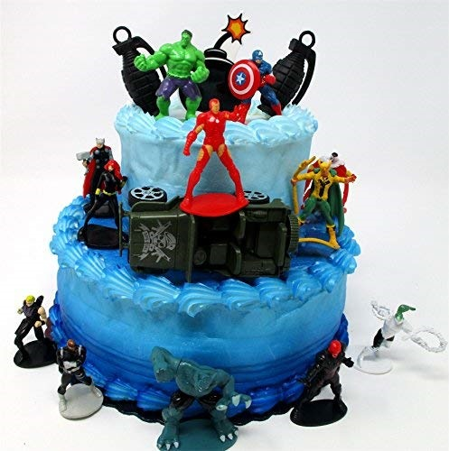 Miraculous Qoo10 Cake Toppers Super Hero Avengers Crew Birthday Cake Topper Funny Birthday Cards Online Elaedamsfinfo