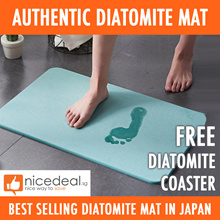 CHEAPEST Authentic Japan Diatomite Mat / Free Diatomite Coaster!!! / Anti-Skid and Easy Care