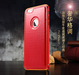 Leather back cover of the phone shell metal frame beautiful classic mobile phone sets apple mobile phone shell iPhone6 iPhone6plus Samsung shell Note3 Note4 s4 s5 series phone sets