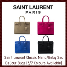 Saint Laurent Classic Nano/Baby Sac De Jour Bags (3/7 Colours Available)