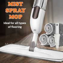 Mist Spray Mop/ Ideal for All Types Of Flooring/ No Watermark Cleaning/ Ease Picks Up Dirt and Hair