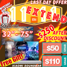 LAST DAY PROMO  Rdy Stock FREE Mi soundbar  32 43 50 55inch except V4 55inch Smart xiaomi Android TV