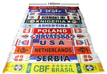 football soccer fans supporters banner russia england germany spain brazil  france italy 140cmx17cm
