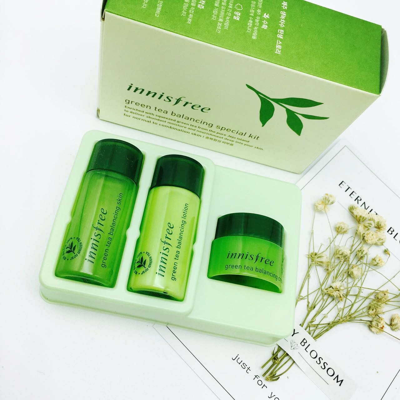 Qoo10 Innisfree Green Tea Water Cream Experience Travel Balancing Special Kit 4 Items Show All Item Images