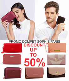 PROMO TAHUN BARU DOMPET SOPHIE MARTIN SALE DISCOUNT UP TO 50%