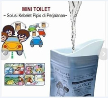 Mini Toilet / Peepis Bag / Travel Urinal Bag ( 1 pack 4 pcs)