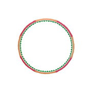 Health Hoop PHD39000W Dynamic 2.5 72 Big Massaging Balls 108cm 2.5kg