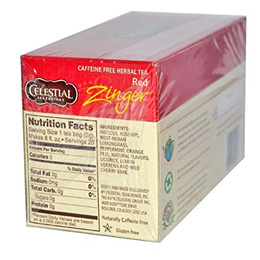 (Celestial Seasonings) Celestial Seasonings Herbal Tea - Caffeine Free -  Red Zinger - 20 0f6bd98a2da56