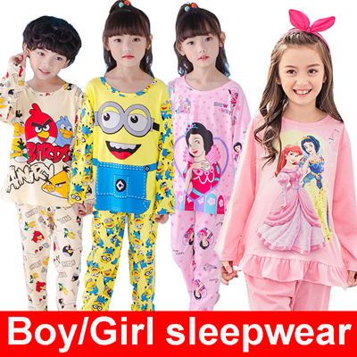 Summer pajamas girl pajamas boy sleepwear kids underwear clothes children  short sleeve pajamas 0fc55526c