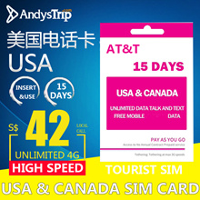 Prepaid Usa Sim Card Att 15 Days Unlimited 4g的價格 Findprice