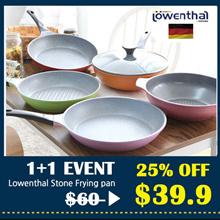 [Lowenthal 1+1] Titanium Stone Frying Pan wok / grill pan pot woks cooking cookware