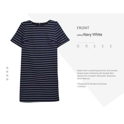 ANN TAYLOR NAVY STRIPE DRESS