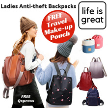 Anti Theft Backpack Travel Ladies - Shoulder Bag Series Overseas and Local Use Luggage [AT Main]