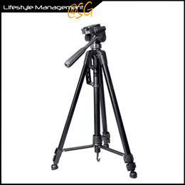DSLR Camera Aluminium Tripod 3-Axis with Quick Release Plate + Carrying Bag/Case