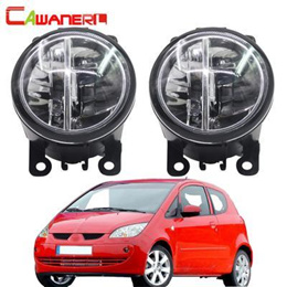 mitsubishi colt hatchback 2004-2012 car led bulb fog light 4000lm 6000k white daytime running light