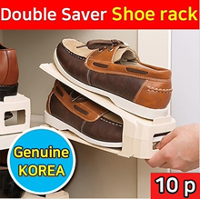 [10p]Shoe Slots Space Saving Shoe Organizer Shoe Rack Original KOREA