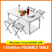 (5.5 SALE!) 🔥 Portable Foldable Aluminium Picnic Table 120x60cm