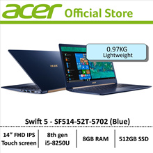 Acer Swift 5 SF514-52T-5702(Blue) Thin and Light Laptop