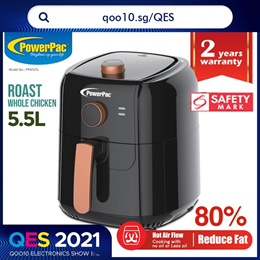 PowerPac Air Fryer 5.5L with Hot Air Flow System (PPAF656)