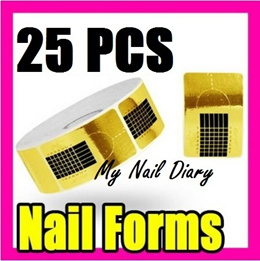 [Clearance Sale!] Professional Acrylic UV Gel Nail Art Form Forms Extension Stickers Sale!