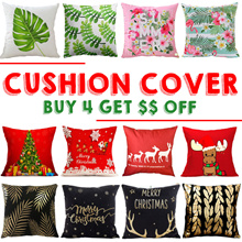 【Buy 4 Get $$ Off】Merry Xmas ❆ Cushion Covers ❆ Sofa Cushions ❆ Pillow Case ❆ Home Deco ❆ Decoration