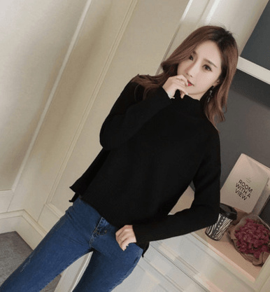 Autumn and winter new high-necked sweater Korean hedge loose knit primer  shirt wild thickened 58a10c16b