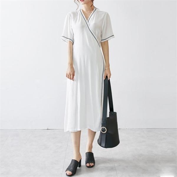 イニク本ビーズ刺繍OPSワンピースnew ロング/マキシワンピース/ワンピース/韓国ファッション