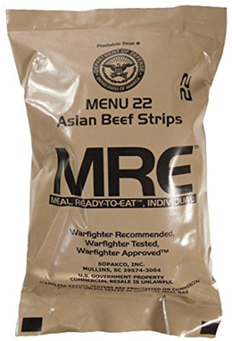 [OUTDOOR SPORT] 7147905911260 - MREs (Meals Ready-to-Eat) Genuine U.S. Military Surplus (1 Pack) Ass