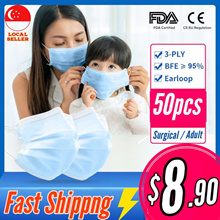 3Ply Earloop FaceMask  50pcs Medical Grade Face Mask CE FDA Lowest Price  Masks