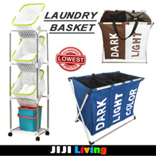 ★Laundry Basket★ Oxford Foldable 2/ 3-Compartment Laundry Basket / Organize clothes/Large Capacity