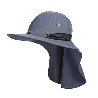 Qoo10 Mens Sun Hat With Neck Flap Cover Uv Protection Mesh Boonie 7dd7385f00a0
