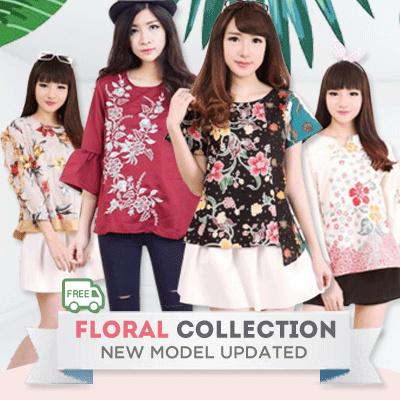 Flower Embroidery-Cut Off Shoulder Shirt Dress Jacket-Tunik Bordir- Blouse Dress Deals for only Rp90.000 instead of Rp90.000