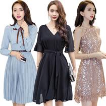 Korean style Slim dress/Sexy/Strapless/Halter/Little black dress/Sexy evening dress/Short sleeve