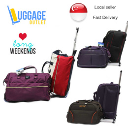 ★Best for Long Weekends★ Cabin Size Trolley Duffle Bag Carry on Travel Luggage Trendy