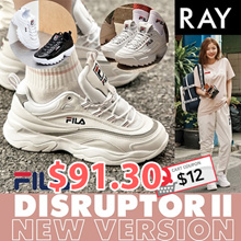 [FILA]★Get Qoo10 Coupon $12★[Buy Get Free Gift]★100% Authentic★FILA RAY Shoes / Sneakers /DISRUPTOR