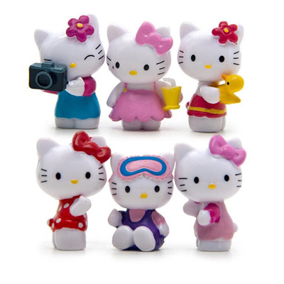 Qoo10 Factory 6pcs Set Cute Hello Kitty Handicrafts Decoration