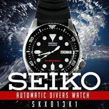 Seiko Automatic Scuba Dive 200m Mens Watch SKX013K SKX013 SKX013K1